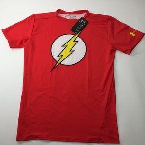 UA Mens Flash Compression Shirt Red 2XL AA00017